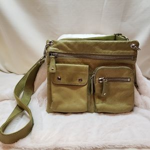 Fossil 75083 green leather crossbody bag